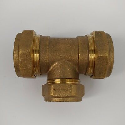 Plumbing Fitting Comap 69208 22mm x 15mm x 15mm End Feed Unequal Tee