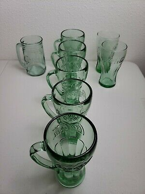 Coca-Cola Coke Glass Mugs (8 Total In 3 Different Designs)