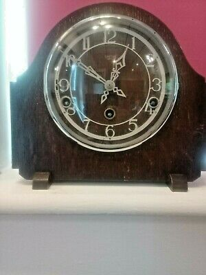 smith enfield 1930s westminster chime mantel clock working order