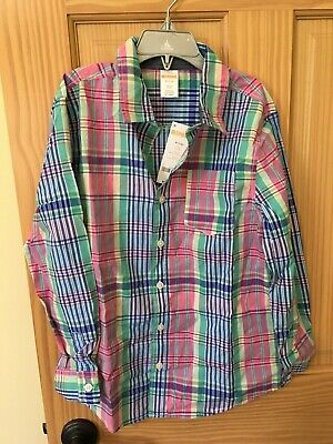 NWT Gymboree Boys Plaid Long Sleeve Button Down Shirt Easter Outlet kid Toddler
