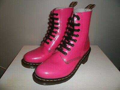 DR. MARTENS CLEMENCY 8 Holes Hot Pink Shiny Patent Leather