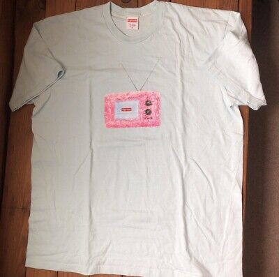 1e3de1be SUPREME BOX LOGO Necklace Tee Light Pink Size XL SS 18 - $108.00 ...