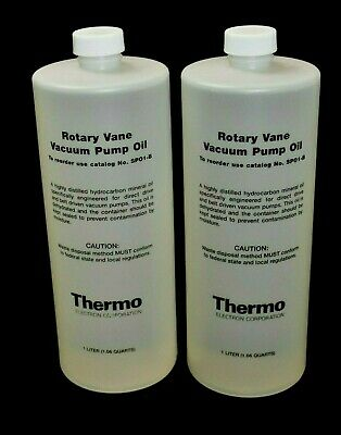 [2-Pack] Thermo SPO1-B Rotary Vane Vacuum Pump Oil 1 Liter for VLP Series Pumps