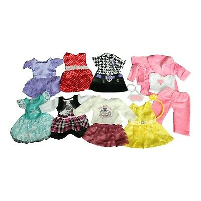 """Lot Of (8) 18"""" Inch Doll Clothes Outfits Fits Our Generation /American Girl"""