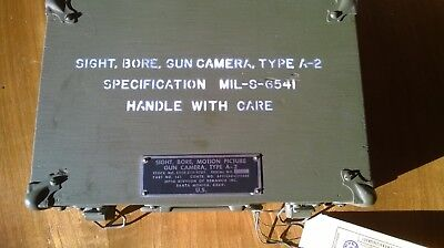 Gunsight motion picture boresight US and Germany Army device set as new