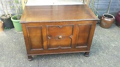 Vintage French Oak Blanket Box Storage Chest We Can Deliver See Description
