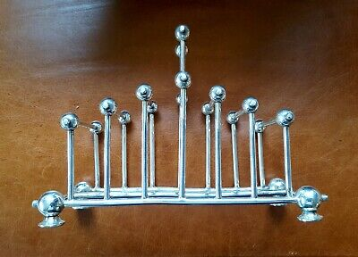 Christopher Dresser Style Aesthetic Movement Silver Plated Toast Rack