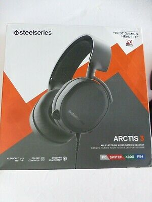 SteelSeries Arctis 3 2019 Edition All-Platform Gaming Headset W/O MANUAL (BB-11)