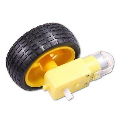 1PCS Smart Car Robot Plastic Tire Wheel DC 3-6v Gear Motor for Arduino Robot New