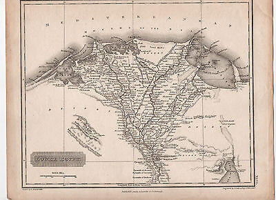 Antique Map Of Lower Egypt C1823