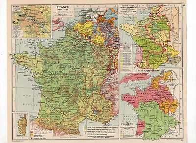 C1931 Antique Map Of France  George Philip & Sons