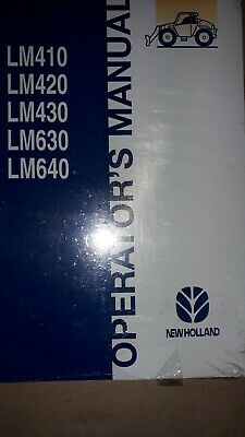 Ford Tractor Lm410 Lm420 Lm430 Lm630 Lm640 Operators Manual Genuine And New