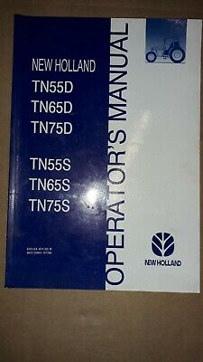 Ford Tractor Tn55D Tn65D Tn75D Tn55S Tn65S Tn75Soperators Manual Genuine And New