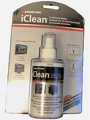 Monster iClean® HQ Alcohol FREE Screen Cleaner for iPad, iPhone, LED, 4K TV's
