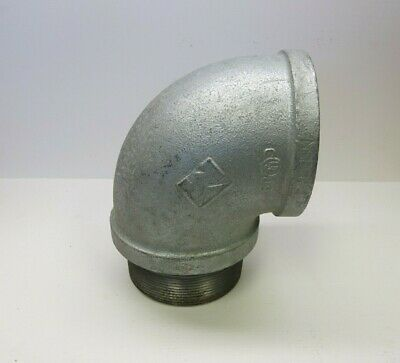 4'' inch 90 Degree Steel Threaded Elbow with Close Nipple Attached