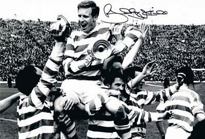 Signed Billy McNeill Glasgow Celtic Autograph Photo 1965 Scottish Cup
