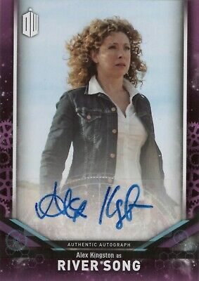 2018 Topps Doctor Who Signature Alex Kingston as River Song Autograph