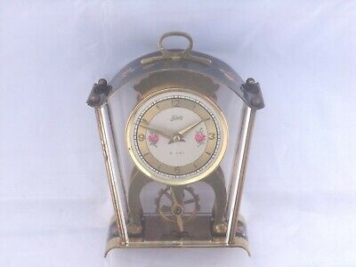 Vintage 8Day Shatz & Sohne Clock With Visible Escapement In Good Working Order.