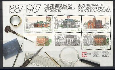 Canada 1125a MNH CAPEX 87 Architecture, Post Office, Flag