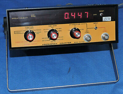 Heathkit IM-4120 Frequency Counter Function Time Attenuation Countertop/Warranty