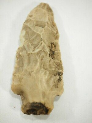 Archaic-Paleo flint Spear Projectile point Stemmed artifact Arenosa Texas NAA-31