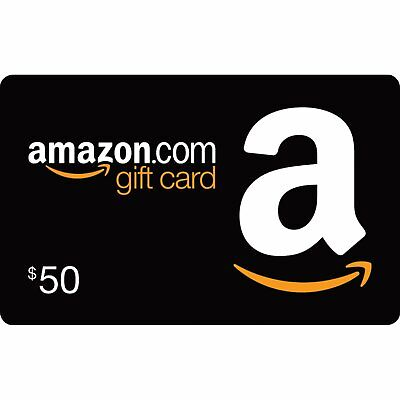 NEW - $50 Amazon Gift Card - Activated Ready to Use
