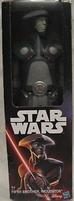 """Star Wars Fifth Brother Inquisitor Disney The Force Awakens Hasbro 12"""" Figure"""