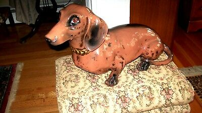 Vintage Ceramic Hand Painted Dachshund, Good Condition