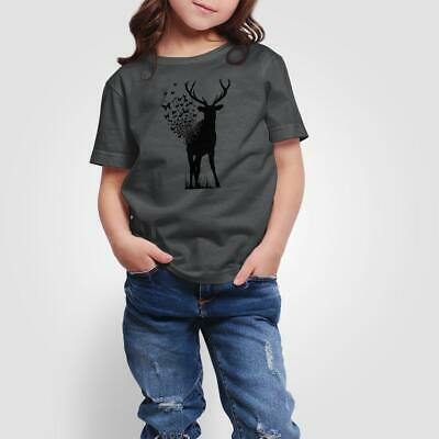 NEW Kids Girls Butterfly Deer T-Shirt - 100% Combed Cotton - by Jog On AU