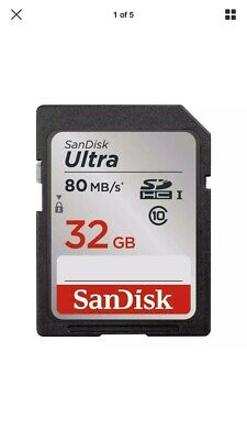 Sandisk Ultra 32GB 80MB/S Micro SD SDHC UHS-I Memory Card Camera Class 10 U-1