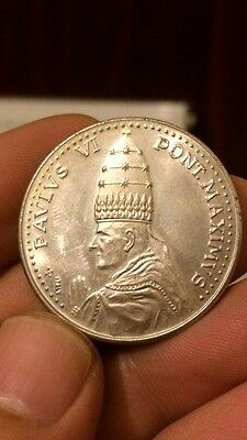 Pope Paul VI Vatican Silver Gilded 1975 Commemorative Medal Coin