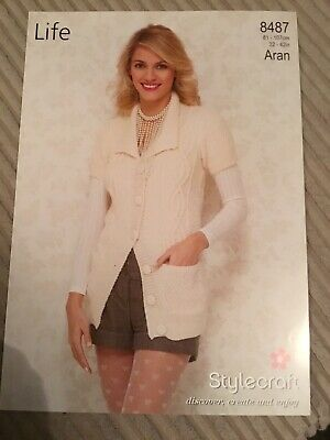 "Stylecraft Knitting Pattern 9140 Ladies Lace Cardigan Cotton Aran 30-48/"" Easy"