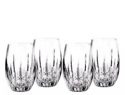 Set Of 4 - Waterford Crystal Cut Southbridge Stemless Wine Glasses - Brand New