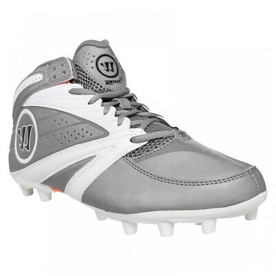 New Mens Warrior 2nd Degree 3.0 Lacrosse Cleats Grey / White Size 12 M Ret: $79