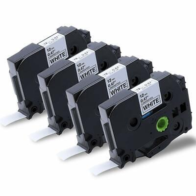 4PK TZe231 Compatible Label Maker Tape for Brother P-Touch PTD210 PTD600 Printer