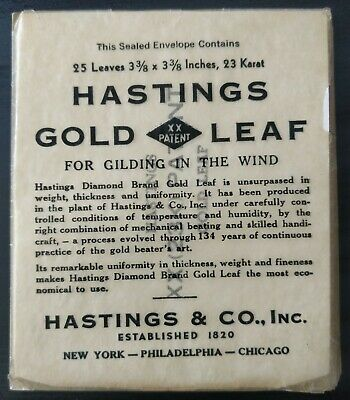 "Brand New Sealed 25 Hastings 23K Gold Leaf Booklet 3 3/8""X3.3/8"""
