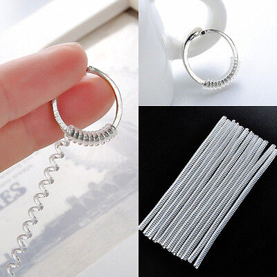 5Pcs Clear Ring Adjuster Plastic Spring Rope Insert Guard Resizing Tools Parts