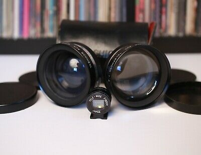 YASHIKOR AUX Wide Angle & Telephoto Lens Set for Yashica Electro 35 w/ Finder