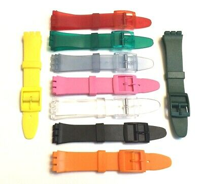 17mm 20mm QUALITY SWATCH REPLACEMENT COMPATIBLE STRAP PLASTIC RESIN WATCH BAND