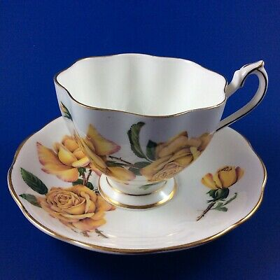 Queen Anne Royal Roses - Peace - Fine Bone China Tea Cup And Saucer