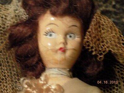 Antique Vintage small bride doll 5 inches.