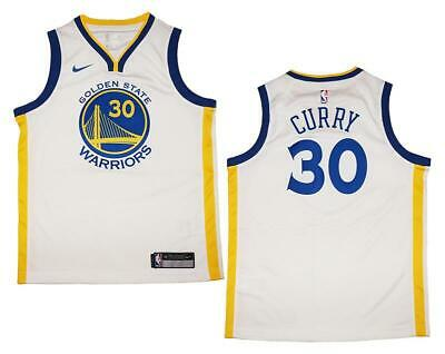 aa8cede54c7 Youth Nike Stephen Curry Golden State Warriors White Swingman Jersey XL  (18/20)