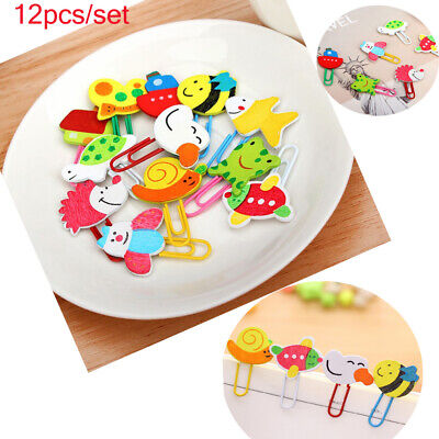 Cute Stationery DIY Gift School Supplies Book Marks Animal Bookmark Paper Clip