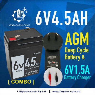 6V 4.5AH UPS SLA battery - brand new 6 volt High Rate & 6 v 1.5A battery charger