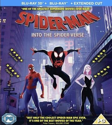 Spider-Man Into the Spider-Verse 3D Blu-ray Region Free Best Deal