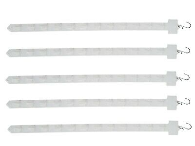 5PK Hanging Merchandising Strip Display Plastic Clip On Strips Commerical