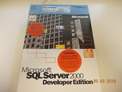 SQL Server 2000 Developer Edition Microsoft Software