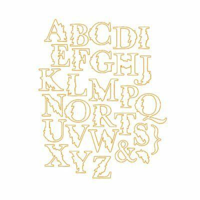Botanical Alphabet Letter Dies 29pcs ABC Metal Cutting Dies and Clear Stamps