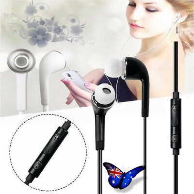 Handsfree In Ear Stereo Headphone Earphone MIC 3.5mm Jack Wired for Samsung iOS