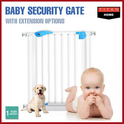 Baby Security Door Gates Child Play Pet Dog Extension Barrier Adjustable Stair